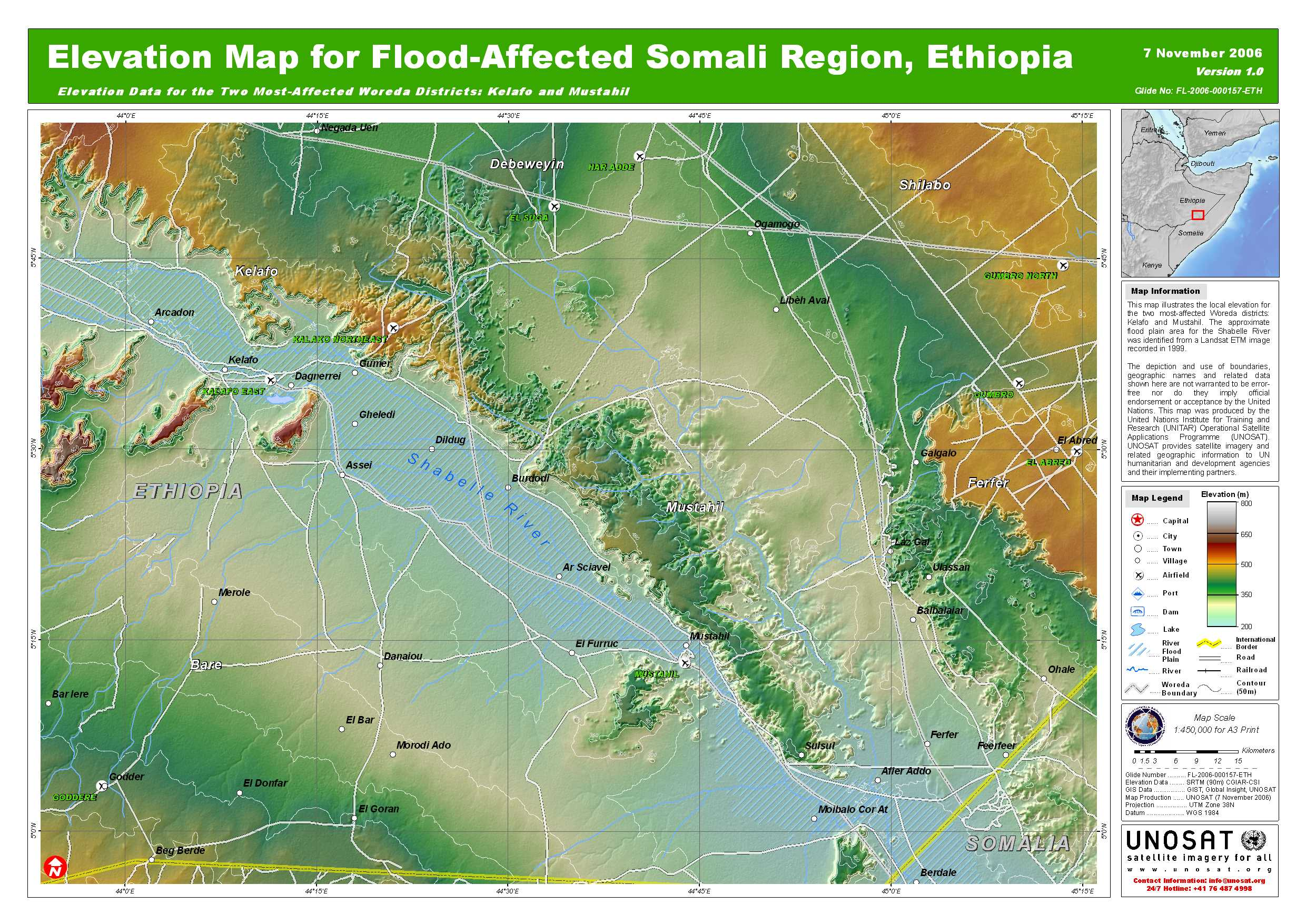 Elevation map for flood affected somali region ethiopia a3 unitar pdf 14mb static viewing and printing gumiabroncs Image collections