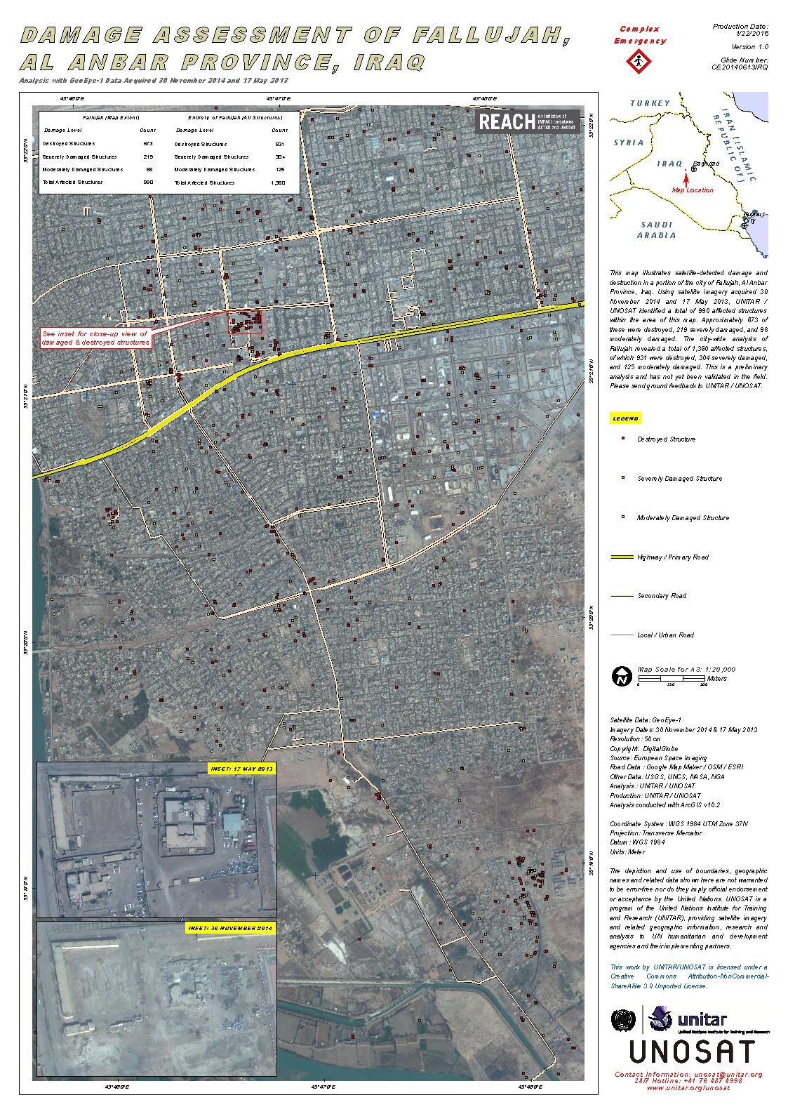 damage assessment of fallujah al anbar province iraq unitar