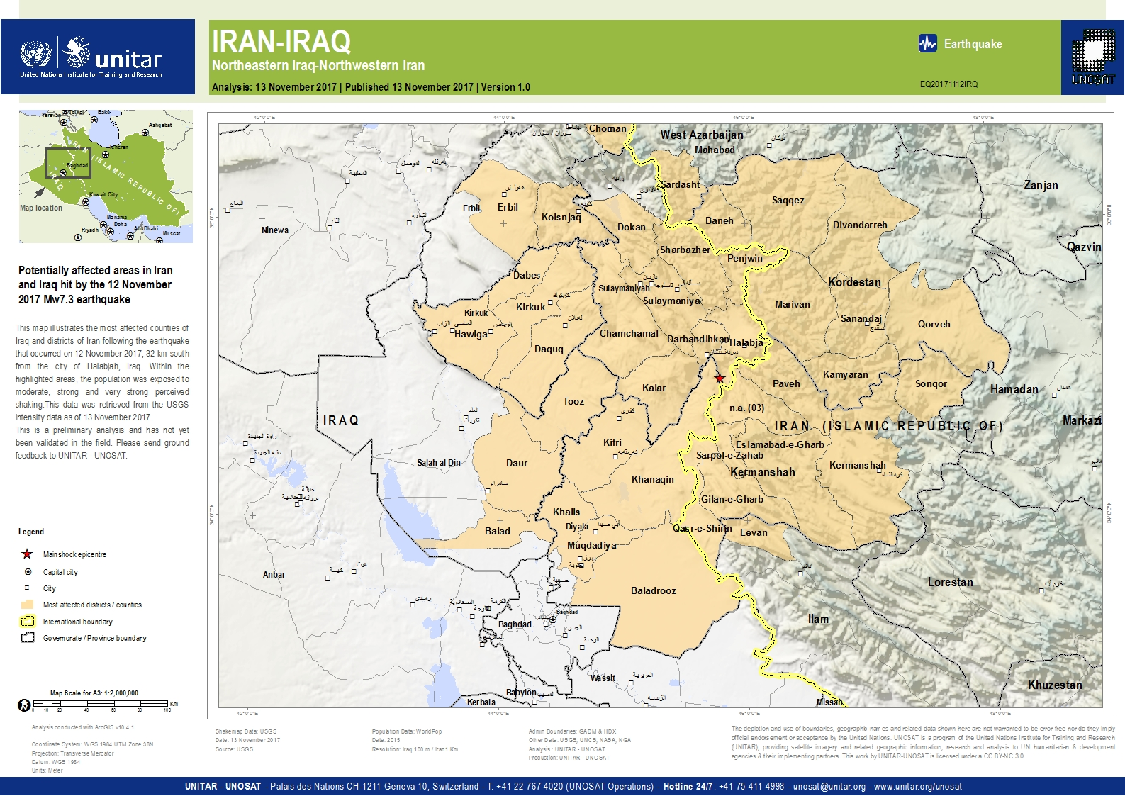 Halabjah earthquake m 73 iraniraq of 12 november 2017 population halabjah earthquake m 73 iraniraq of 12 november 2017 population exposure analysis unitar gumiabroncs Image collections