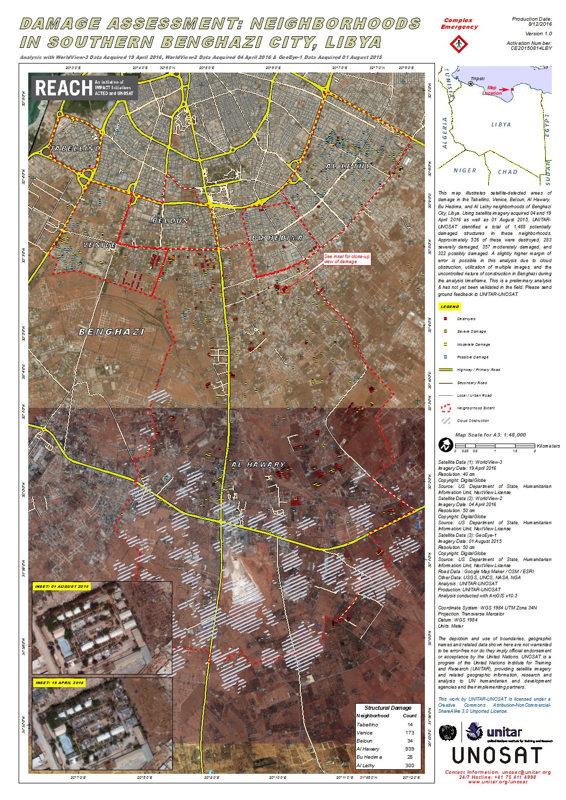 Damage Assessment Neighborhoods in Southern Benghazi City Libya