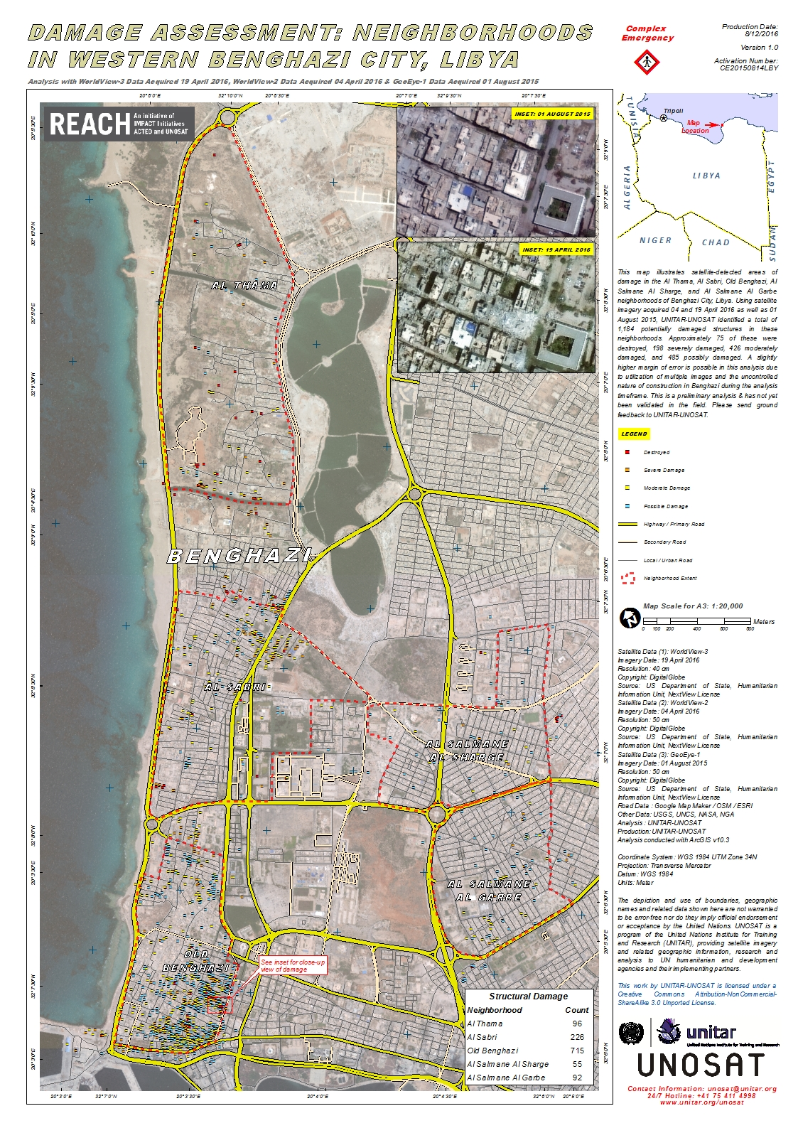 Damage Assessment Neighborhoods in Western Benghazi City Libya
