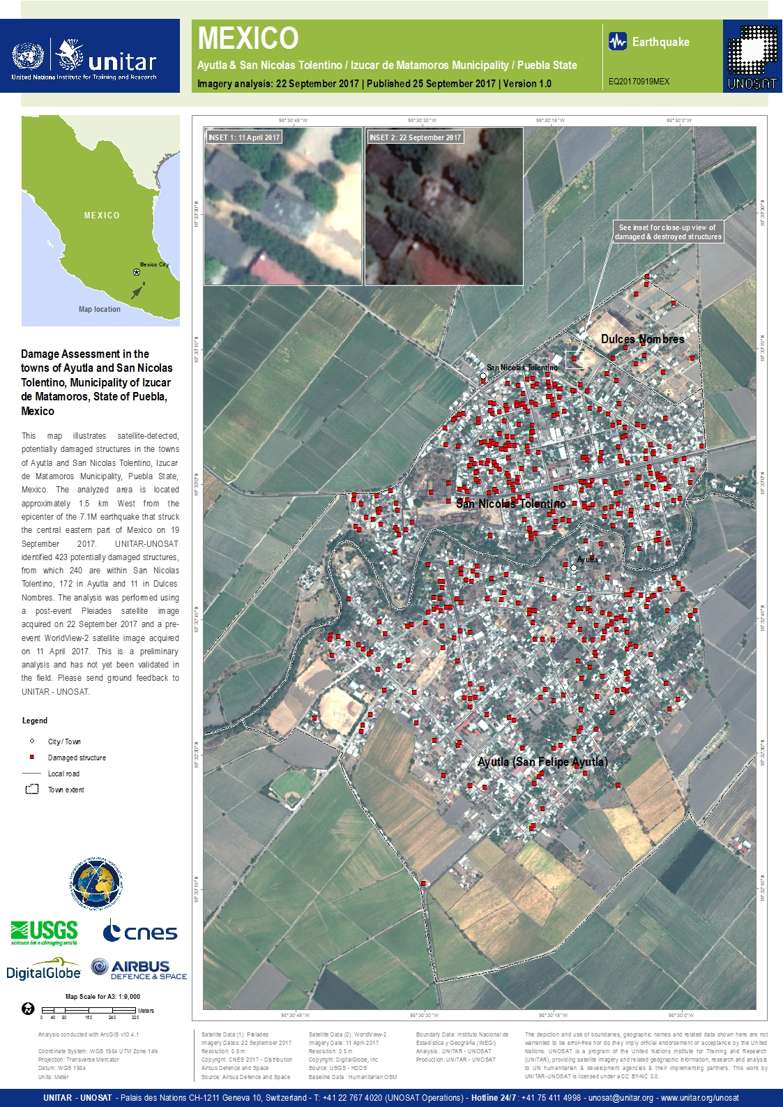 Damage Assessment in the towns of Ayutla and San Nicolas ...