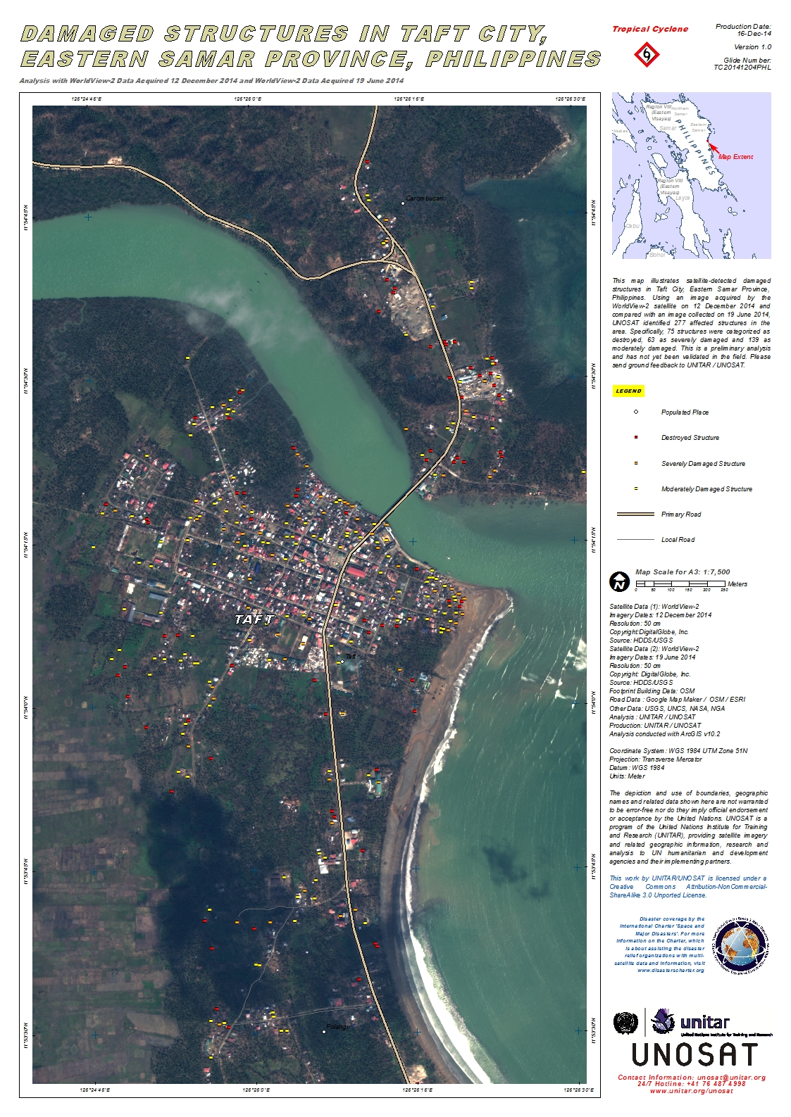 Damaged Structures In Taft City Eastern Samar Province Philippines