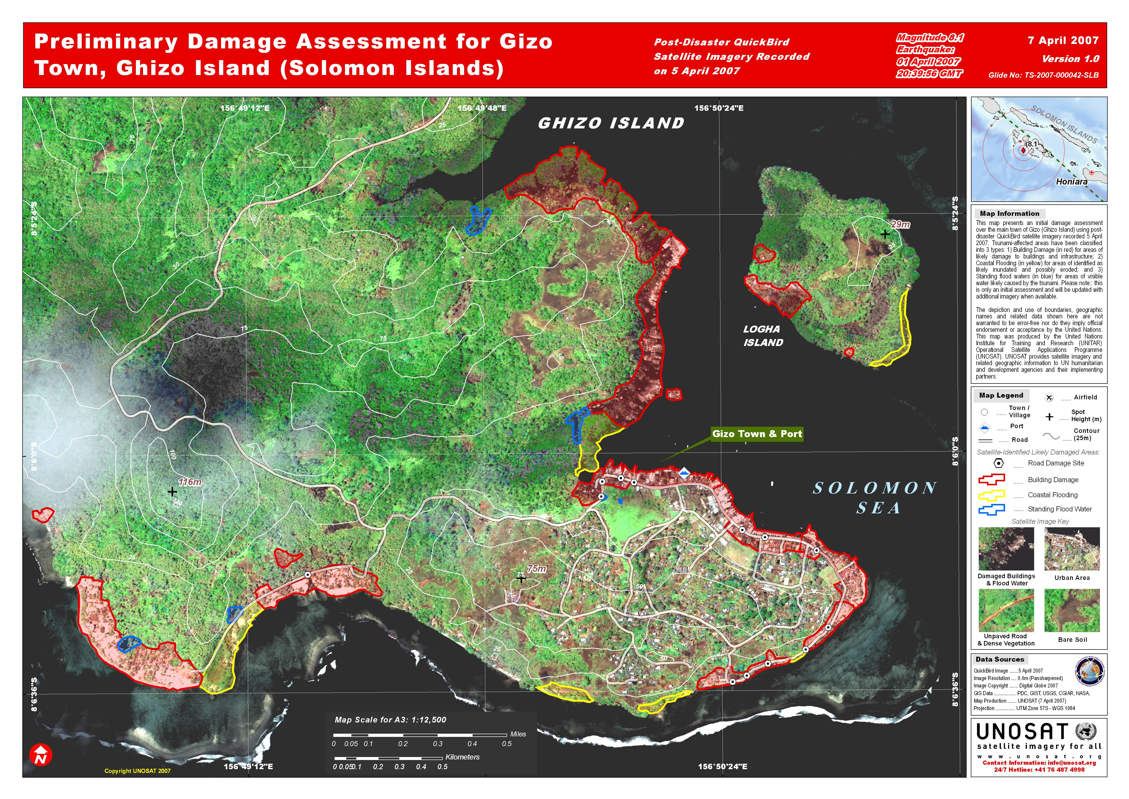 Preliminary Damage Assessment for Gizo Town, Ghizo Island
