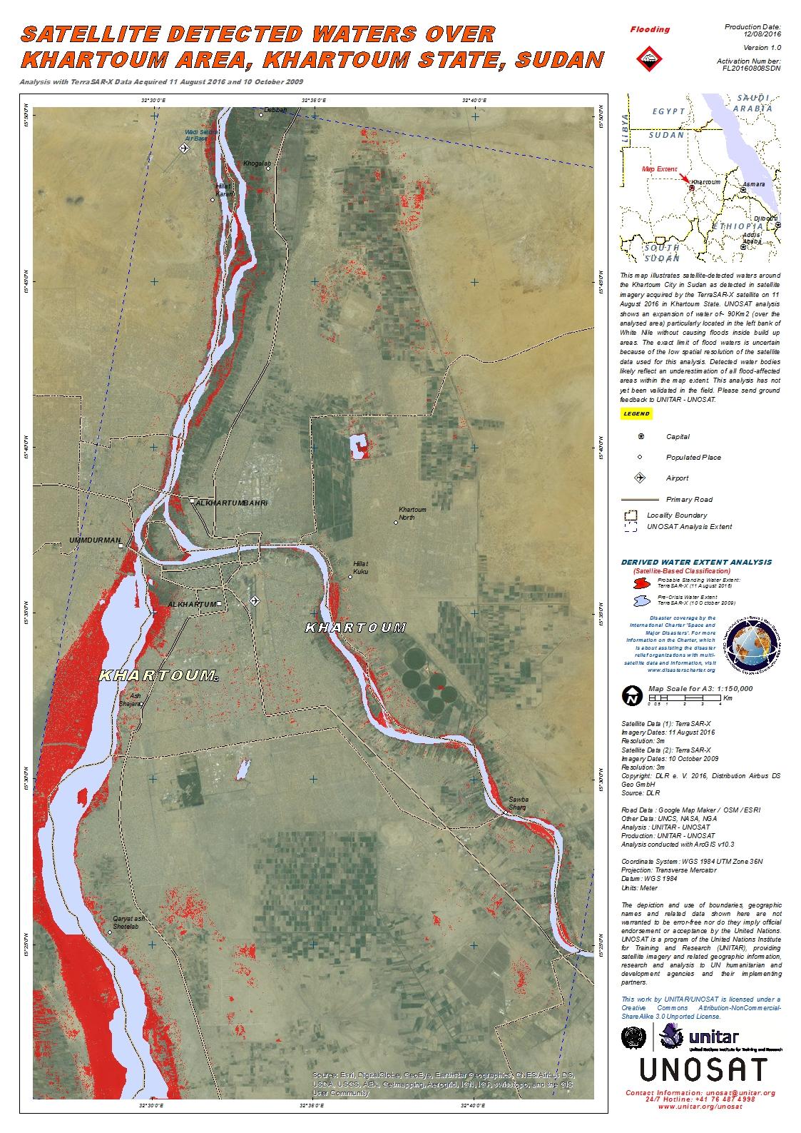 Satellite Detected Waters Over Khartoum Area, Khartoum State, Sudan on damascus map, lake victoria map, casablanca map, tripoli map, kinshasa map, jerusalem map, cairo map, amman map, meroe map, monrovia map, windhoek map, juba map, bujumbura map, addis ababa map, yerevan map, nairobi map, asmara eritrea map, riyadh map, pretoria map, brazzaville map,