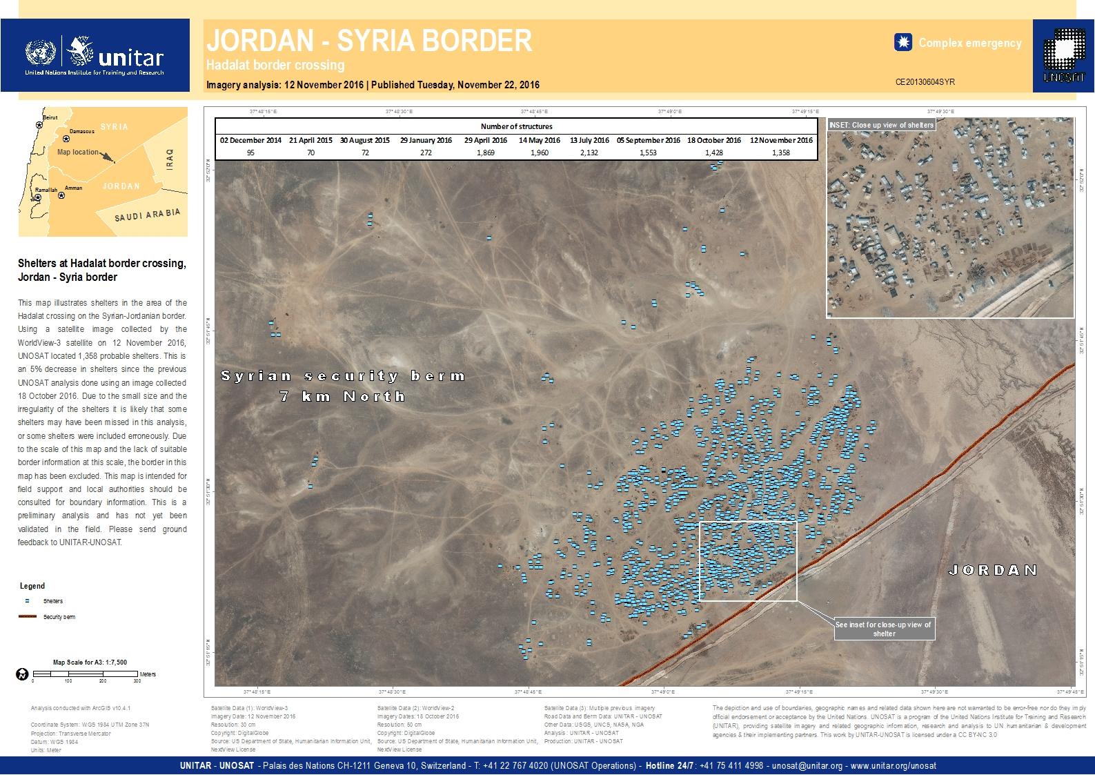 Shelters at hadalat border crossing jordan syria border unitar shelters at hadalat border crossing jordan syria border gumiabroncs Image collections