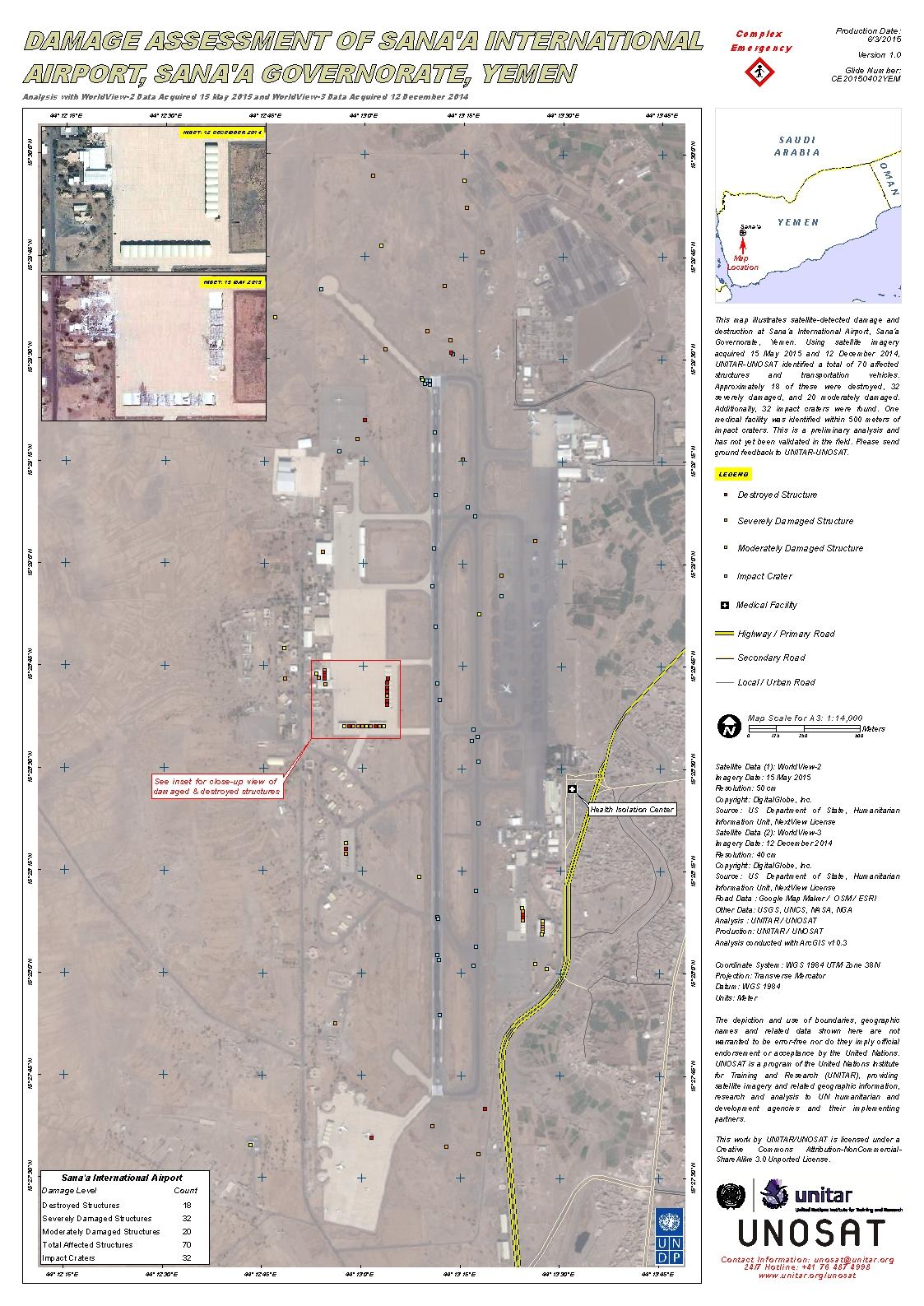 Damage Assessment of Sanaa International Airport Sanaa